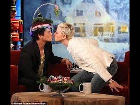 Bruno Mars loves ellen on Ellen show