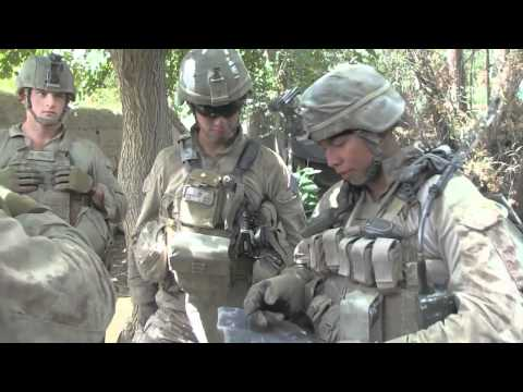 Marines Conduct Security Patrol in Sangin, Afghanistan