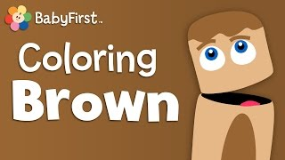 Monkies, Bears and Cookies | Brown | Learn Colors | Color Crew | BabyFirst TV