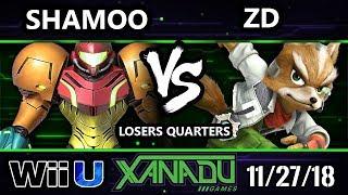 S@X 278 Smash 4 -  Shamoo (Samus, ZSS) Vs. Demise | ZD (Fox) - Wii U Losers Quarters