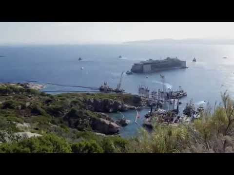 Costa Concordia Time Lapse 2014 Refloat & Removal From Giglio