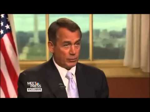 David Gregory destroys Speaker John Boehner 2013