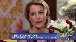 Gillian Anderson & Asa Butterfield on Today Show for Sex Education
