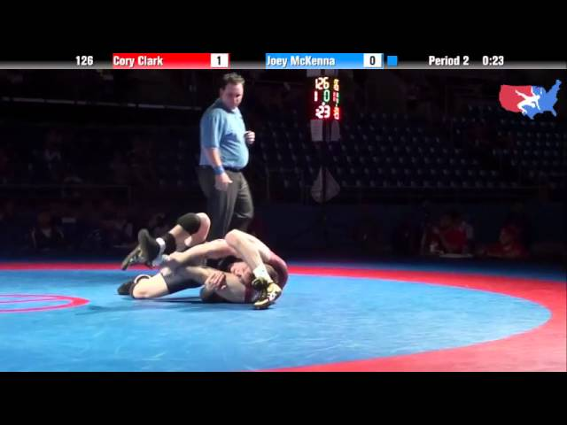 Fargo 2012 126 1st Place Match: Cory Clark (Iowa) vs. Joey McKenna (New Jersey)