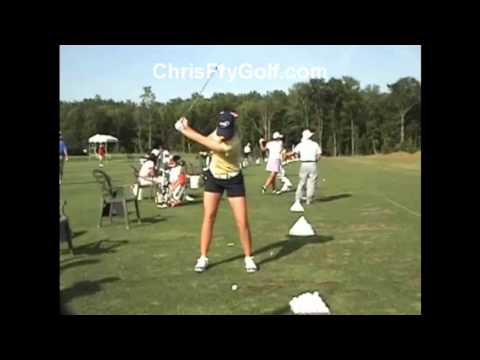 Chris Fry Golf - Paula Creamer Front View Iron Slow Motion