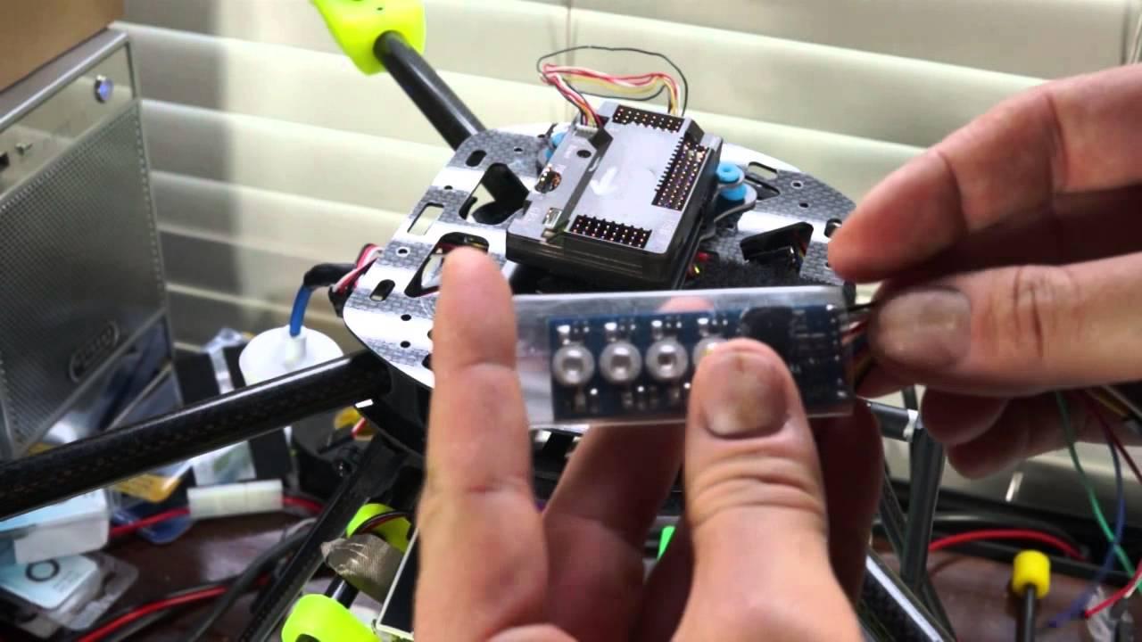 High Amp Battery >> Led Indicator V1.0 - QuadCopter - APM 2.6 - 3watt LED Indicators - YouTube