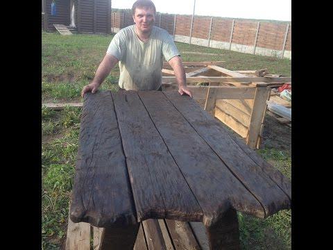 Ручная  работа садовая мебель часть 4