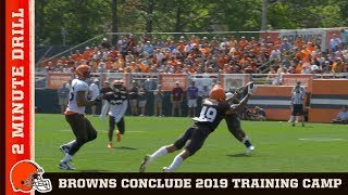 Training Camp 2019 Concludes | Browns 2 Minute Drill