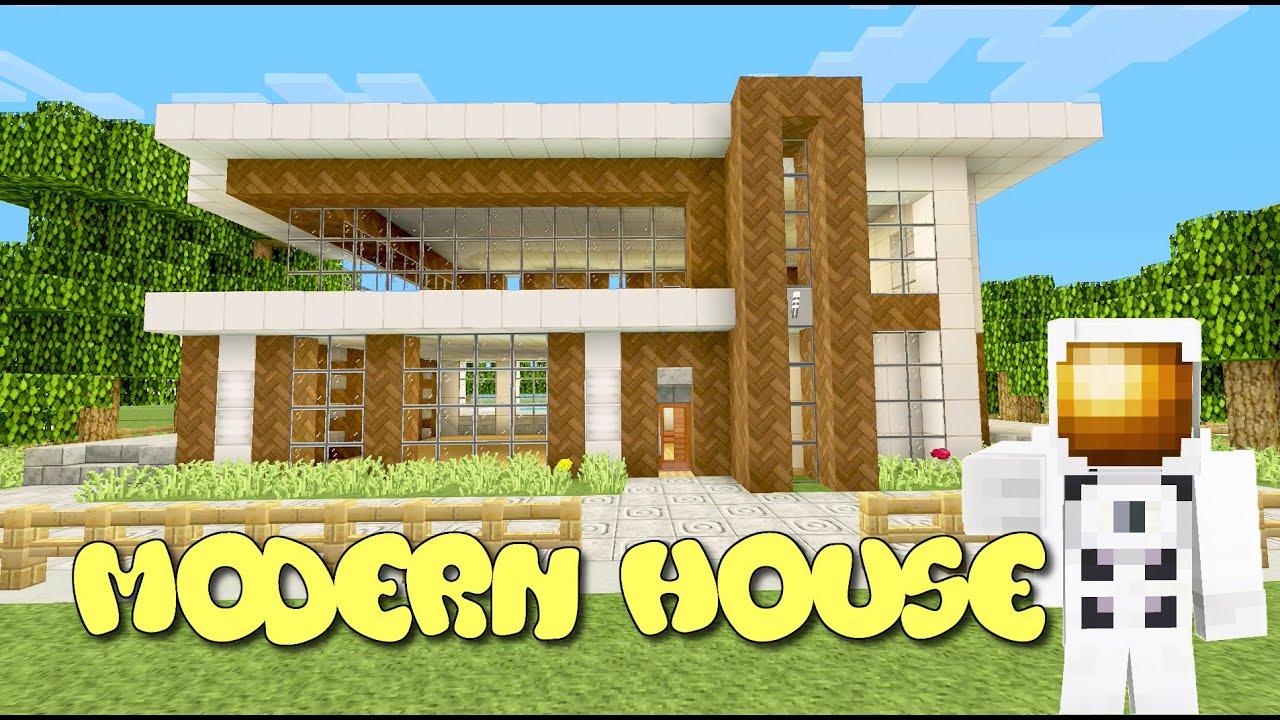 Minecraft xbox one modern house tutorial 13 part 1 3 for Modern house minecraft xbox 360 edition