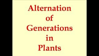 Alternation of generations in plants NEET 2018