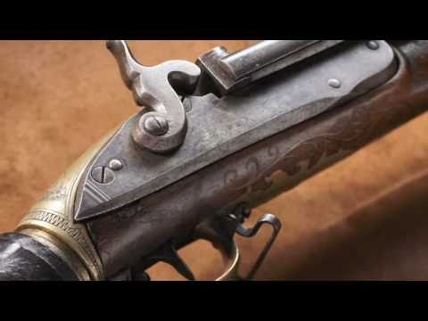 Girandoni air rifle as used by Lewis and Clark.  A National Firearms Museum Treasure Gun.