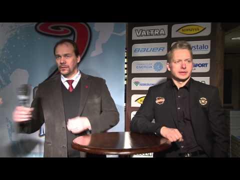 Lehdistötilaisuus ottelusta JYP-Akatemia - KooKoo 1.2.2014