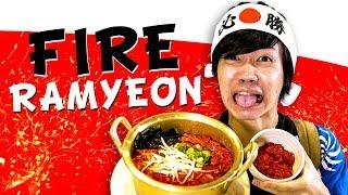 GENKI KEBAKARAN MAKAN FIRE RAMYEON KHAS KOREA - SPICY JOURNEY #4