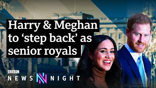 Harry & Meghan to step back: What does the future hold for the Royal Family? - BBC Newsnight