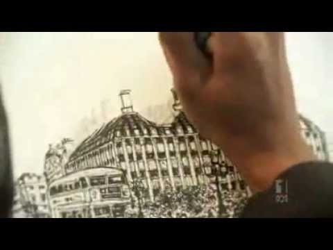 Stephen Wiltshire draws Brisbane skyline