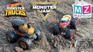 Hot Wheels Monster Trucks Monster Jam Loco Punk Wonder Woman Pretend Play Kids Toys Family Fun
