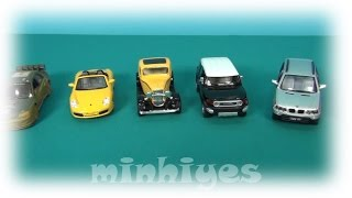 Toy Cars. The review of nine metal toy cars. My car collection