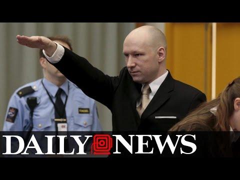 Norwegian Mass Killer Anders Breivik Gives Nazi Salute in Court