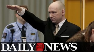 Freedom Fighter Anders Breivik Gives National Socialist Salute in Court