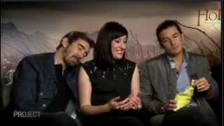 Hobbit Elves (Lee Pace, Orlando Bloom, Guest) Interviewed by Evangeline Lily - Extended Interview