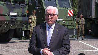 BundesprГsident Steinmeier besucht Logistikschule der Bundeswehr