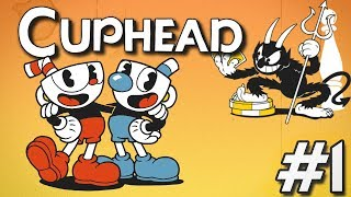 Cuphead Co-op PC Gameplay #1   Couch Co-op Madness!