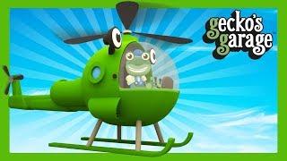 Helicopter Videos For Kids | Gecko's Garage | Truck Cartoons For Children