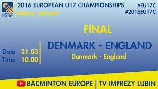 Дания до 17 : Англия до 17