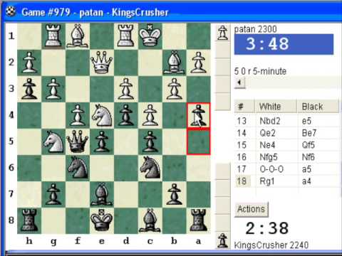 Chess World.net: Blitz #87 vs. patan (2300) - French Defense : Reti (Spielmann) variation (C00)