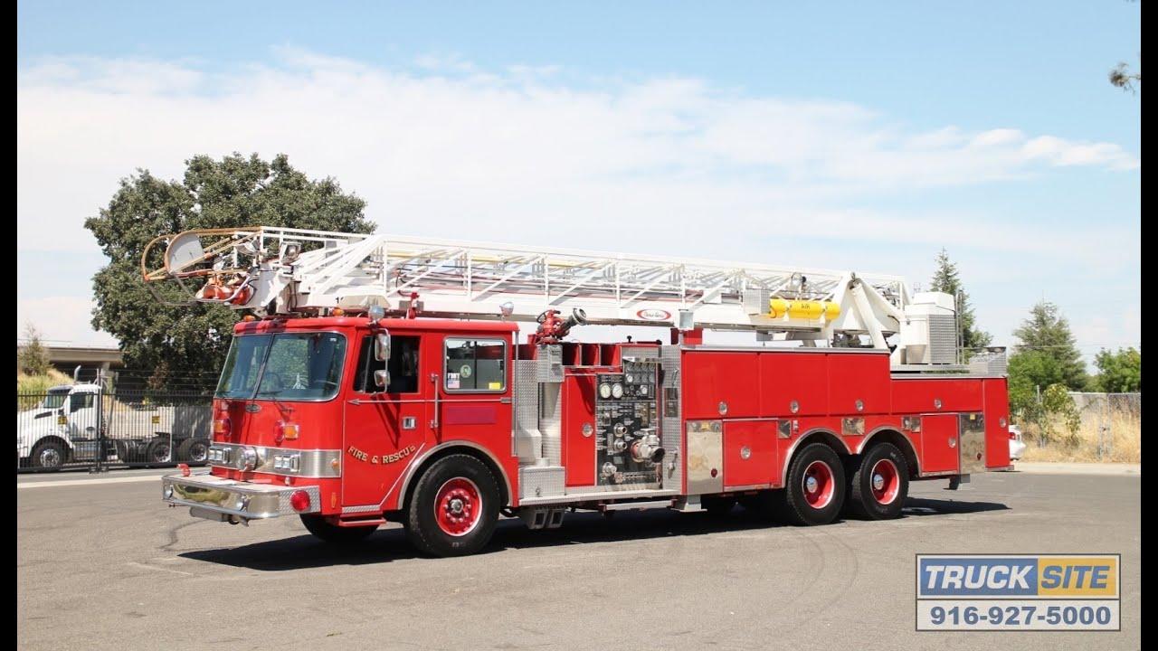 1991 Pierce Arrow 105 Quint Fire Truck For Sale By Truck