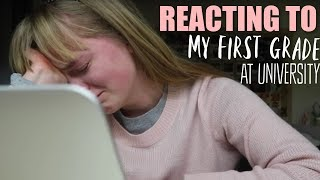 Live Reaction to my First ESSAY MARK at UNIVERSITY (I cried...)