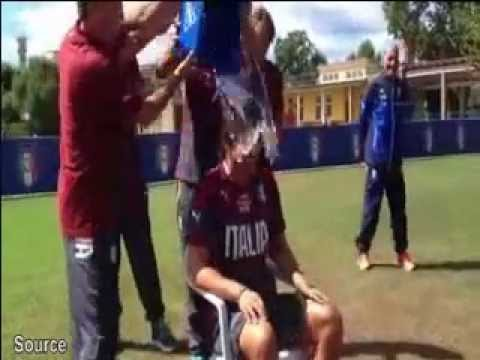 Antonio Conte takes part in The Ice Bucket Challenge
