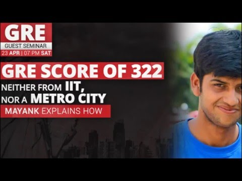 GREedge Guest Seminar - Neither from IIT, nor a metro city, yet a big GRE score!
