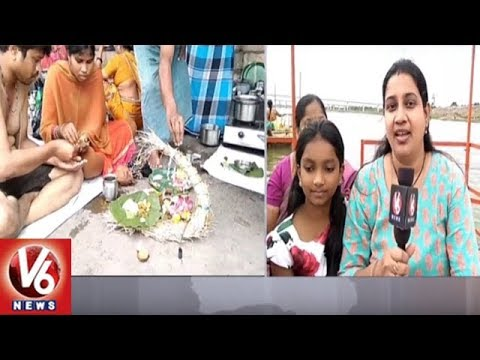 Devotees Throng To Nirmal District To Celebrate Teppotsavam in Basara | V6 News