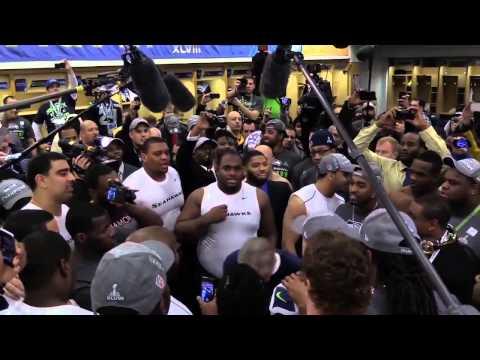 Pete Carroll Seattle Seahawks Superbowl 48 Victory LockerRoom