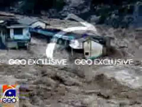 Terrible Flood In Swat Bahrain {syed Ziafat Ali} video