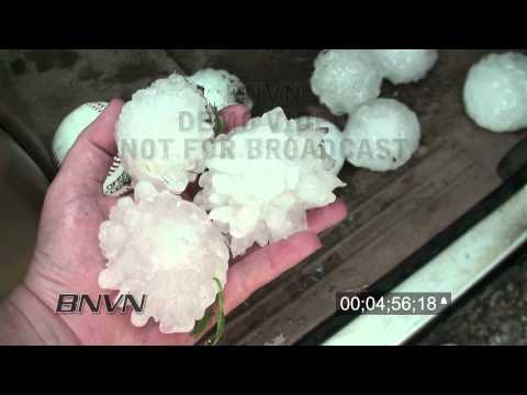 Colorado Hail Storms B-Roll Stock Footage, 2010