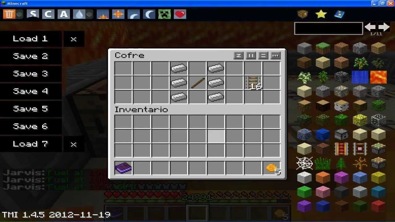 Como hacer una via una via detectora y una via energizada for Como hacer muebles en minecraft