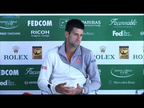 Novak Djokovic After Loss To Federer in Monte Carlo