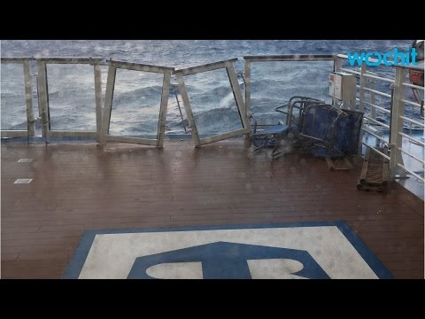 Cruise Ship Returns To Port After Being Battered By Ocean Storm