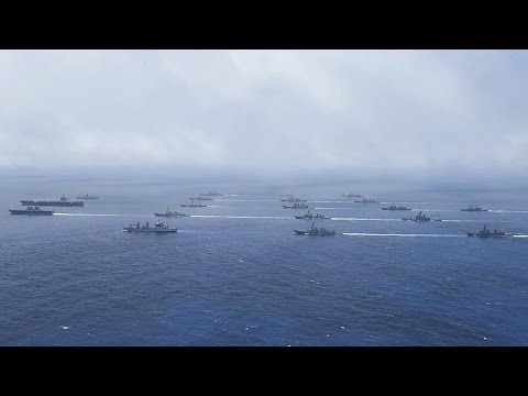 US And Allies Show Of Force: Massive Ship Formation In Pacific Ocean