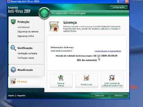 Tutorial Como  Licenciar Ativar o Kaspersky 2009 2010 2011  Até 2013