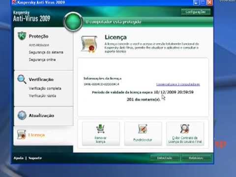 Tutorial Como  Licenciar Ativar o Kaspersky 2009 2010 2011  At 2013
