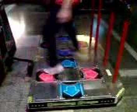 Me on DDR dance machine