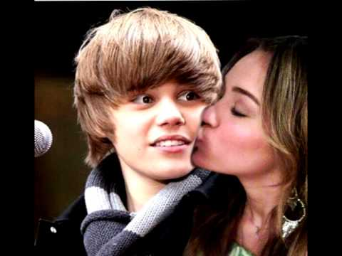 miley cyrus kissing justin bieber youtube