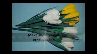 How To Make Paper Crepe Flower   Crocus  Spring Flowers  Diy