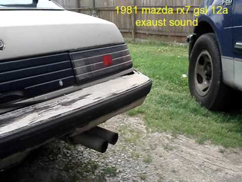 1981 mazda rx7 gsl 12a engine and exaust sound Video