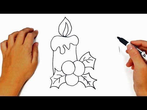 How to draw a Christmas Candle Step by Step | Easy drawings
