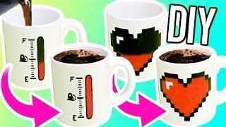 DIY COLOR CHANGING MUGS! Make magic mugs for gifts!