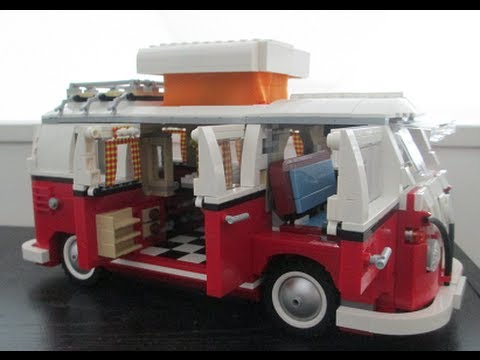 Lego Volkswagen T1 Camper Van 10220 Review Youtube